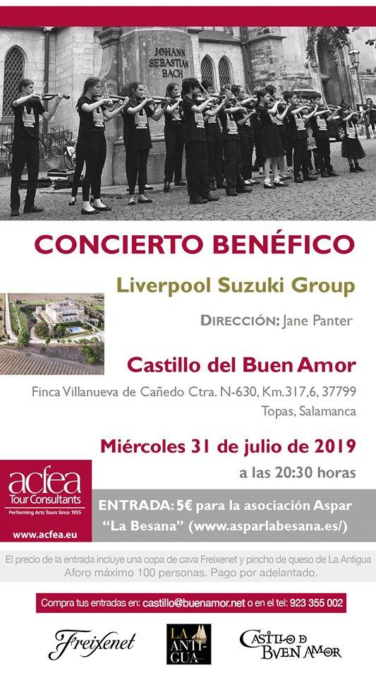 Castillo del Buen Amor Liverpool Suzuki Group Topas Julio 2019