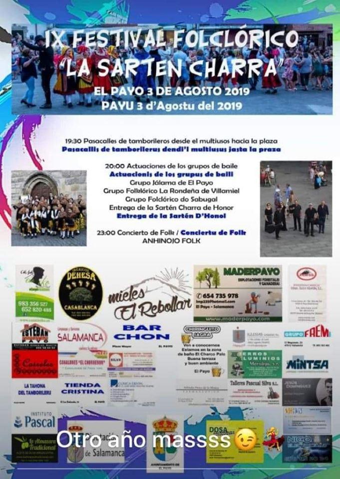 El Payo IX Festival Folclórico La Sartén Charra Agosto 2019