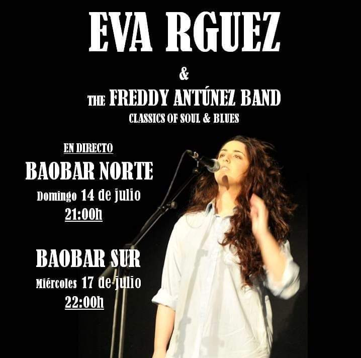 Baobar Sur Eva Rodríguez & The Freddy Antúnez Band Salamanca Julio 2019