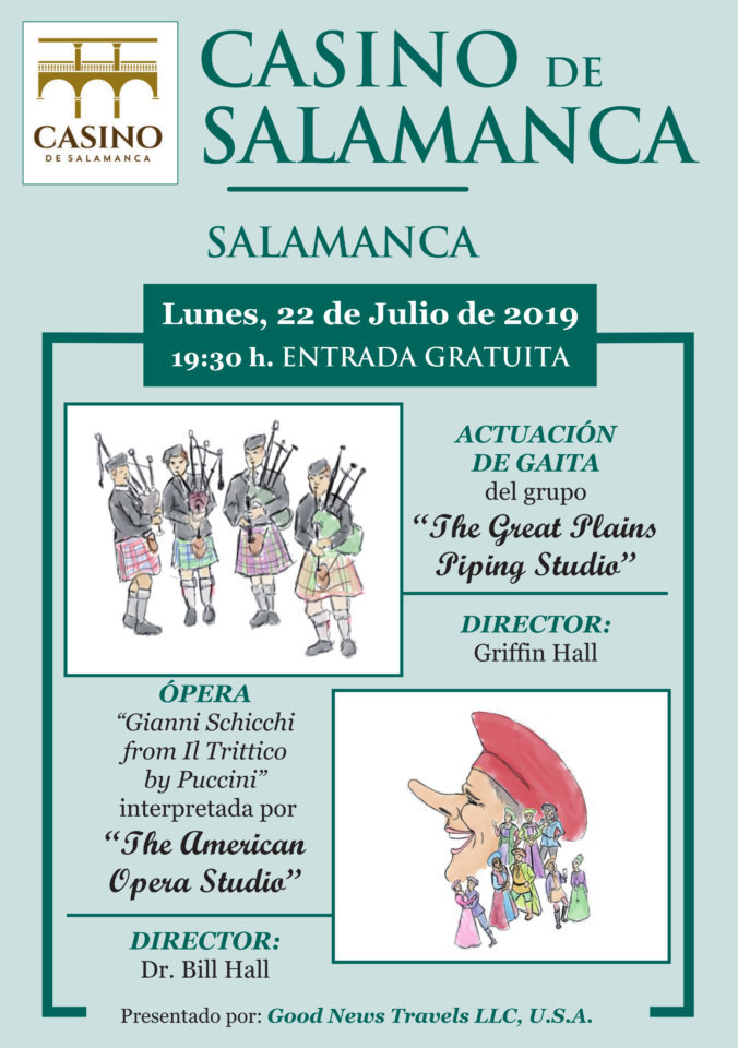 Casino de Salamanca The Great Plains Piping Studio & The American Opera Studio Julio 2019