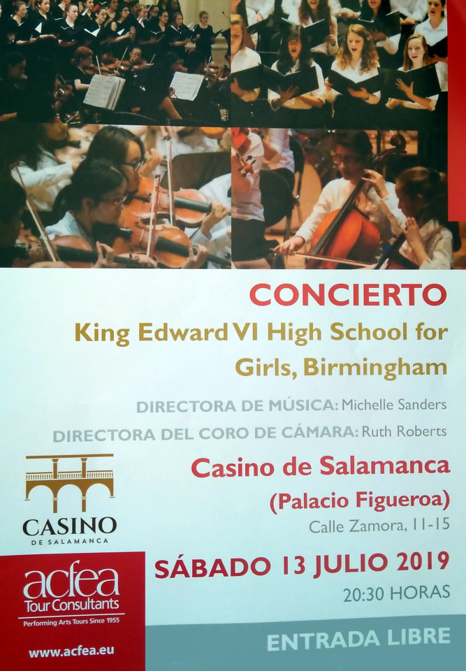 Casino de Salamanca King Edward VI High School for Girls Julio 2019