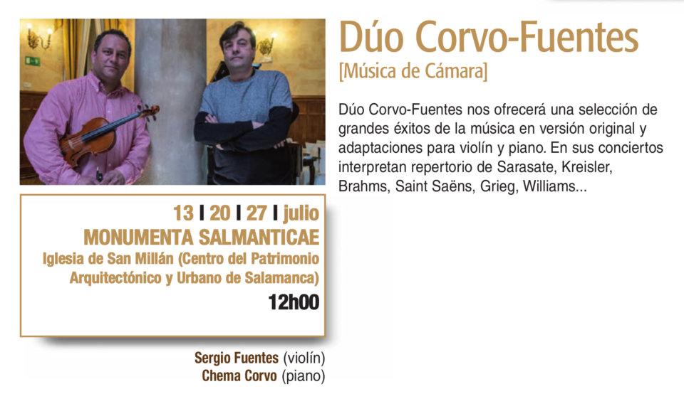 Monumenta Salmanticae Dúo Corvo-Fuentes Plazas y Patios 2019 Salamanca Julio