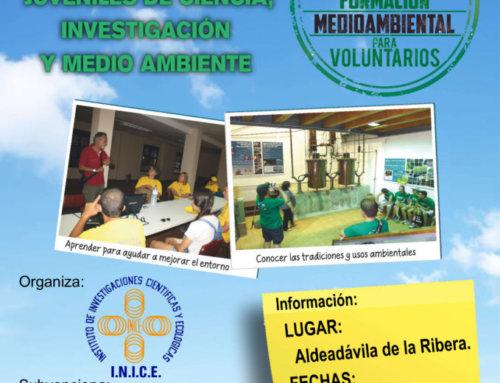 INICE convoca el Curso de Formación de Voluntariado en Actividades Juveniles de Ciencia, Investigación y Medio Ambiente para el mes de agosto, de 2019, en Aldeadávila de la Ribera