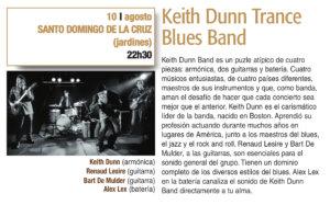 Santo Domingo de la Cruz Keith Dunn Trance Blues Band Plazas y Patios 2019 Salamanca Agosto