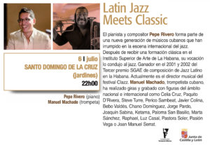 Santo Domingo de la Cruz Latin Jazz Meets Classic Plazas y Patios 2019 Salamanca Julio