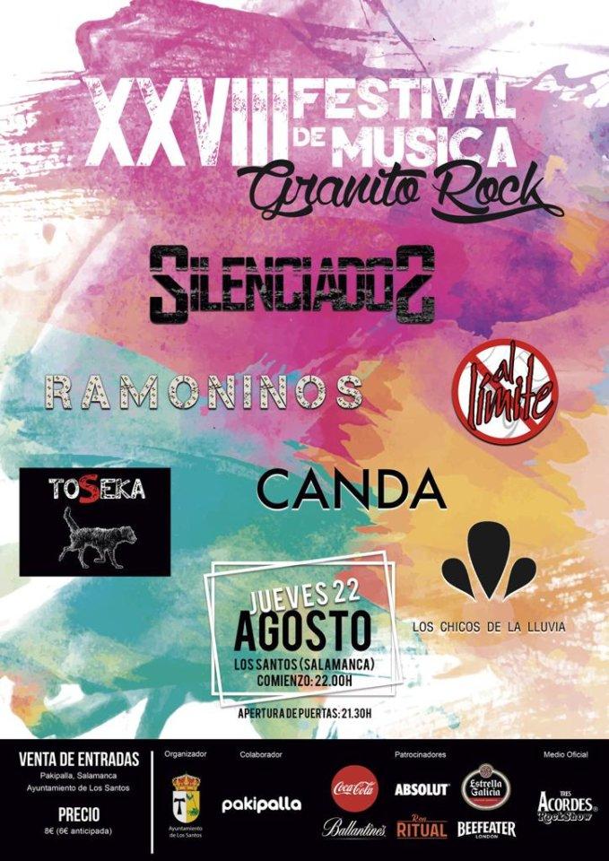 Los Santos XXVIII Festival de Música Granito Rock Agosto 2019