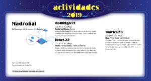 Madroñal Noches de Cultura Julio 2019