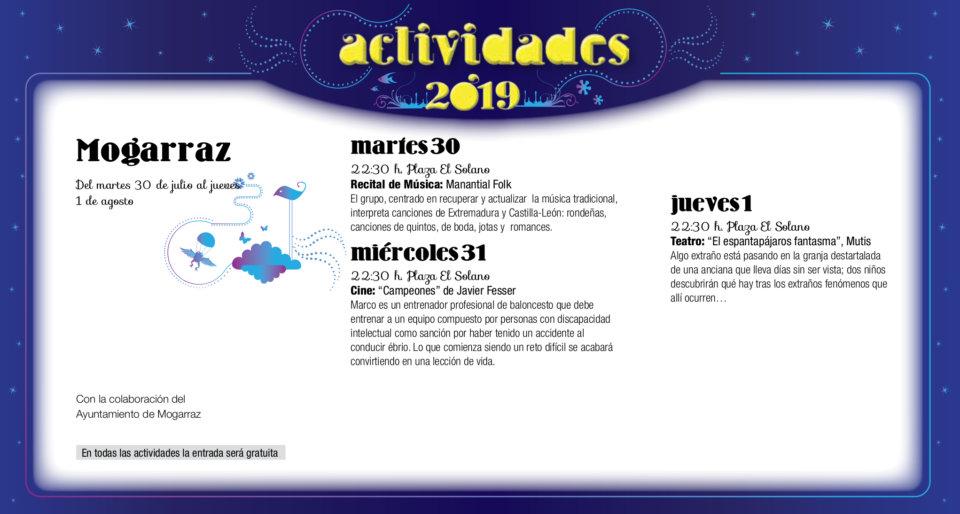 Mogarraz Noches de Cultura Julio agosto 2019