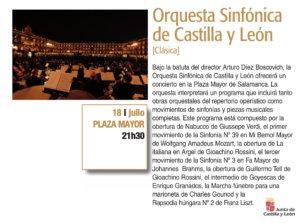 Plaza Mayor Orquesta Sinfónica de Castilla y León Plazas y Patios 2019 Salamanca Julio