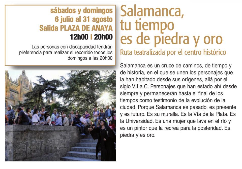 Plaza de Anaya Salamanca, tu tiempo es de piedra y oro Plazas y Patios 2019 Julio agosto