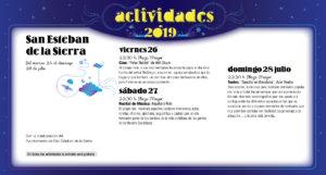 San Esteban de la Sierra Noches de Cultura Julio 2019