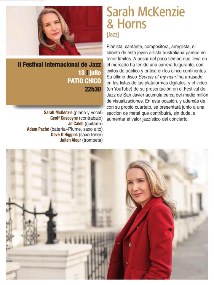 Patio Chico Sarah McKenzie & Horns Plazas y Patios 2019 Salamanca Julio