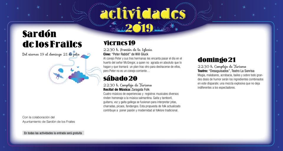 Sardón de los Frailes Noches de Cultura Julio 2019