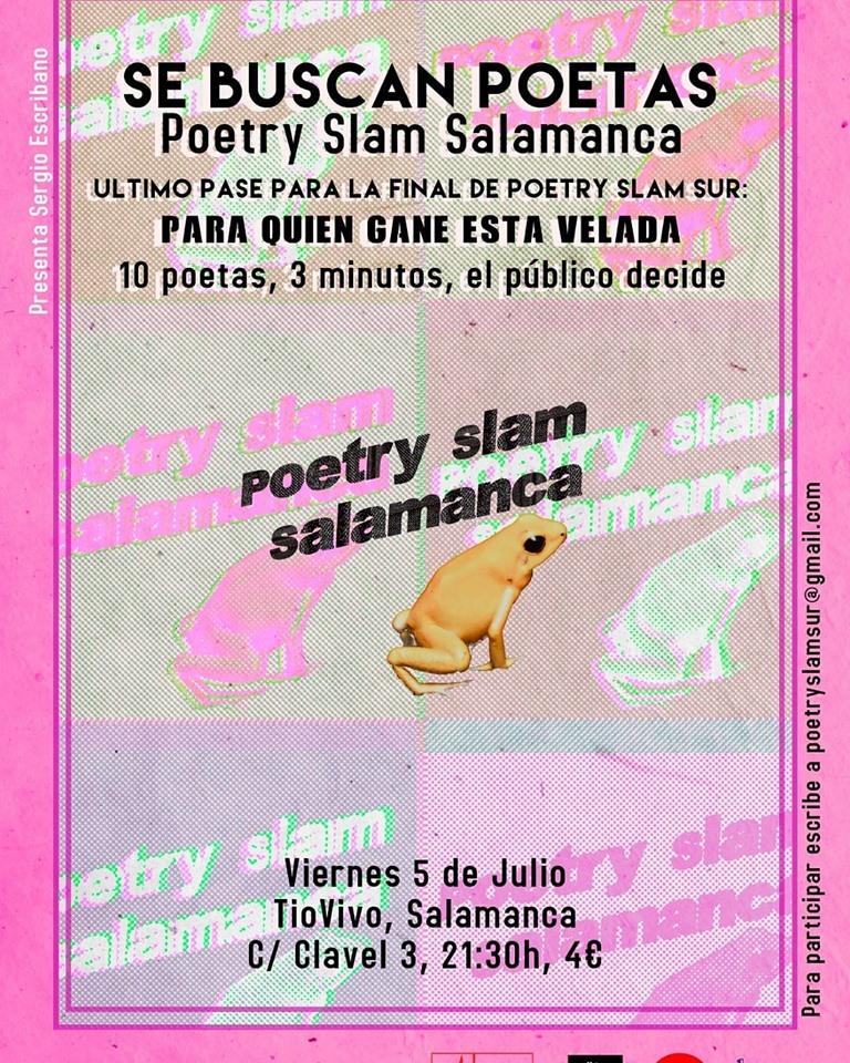 Tío Vivo Poetry Slam Salamanca Julio 2019
