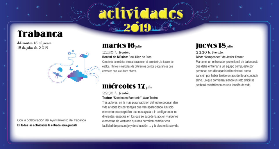 Trabanca Noches de Cultura Julio 2019