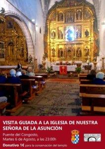 Puente del Congosto Visita Guiada Iglesia de Nuestra Señora de la Asunción Agosto 2019