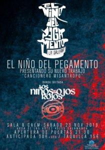 Centro de las Artes Escénicas y de la Música CAEM El Niño del Pegamento + Los Niños de los Ojos Rojos Conciertos Sala B Salamanca Noviembre 2019