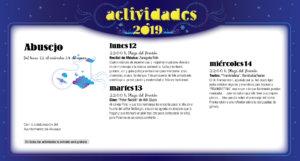 Abusejo Noches de Cultura Agosto 2019