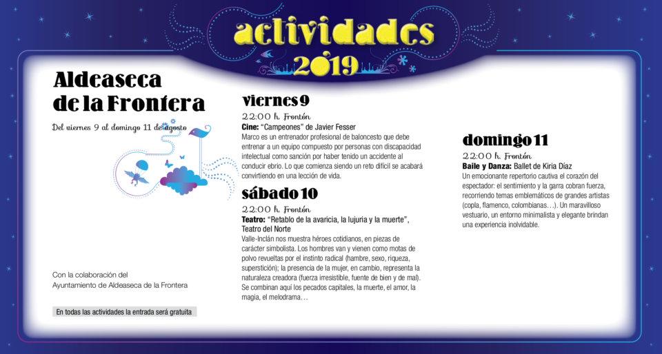 Aldeaseca de la Frontera Noches de Cultura Agosto 2019