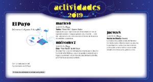 El Payo Noches de Cultura Agosto 2019