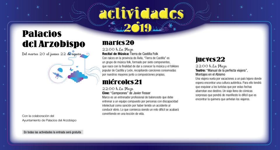 Palacios del Arzobispo Noches de Cultura Agosto 2019