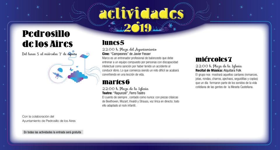 Pedrosillo de los Aires Noches de Cultura Agosto 2019