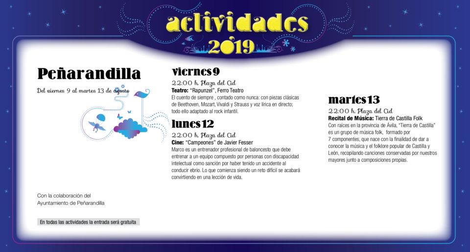 Peñarandilla Noches de Cultura Agosto 2019