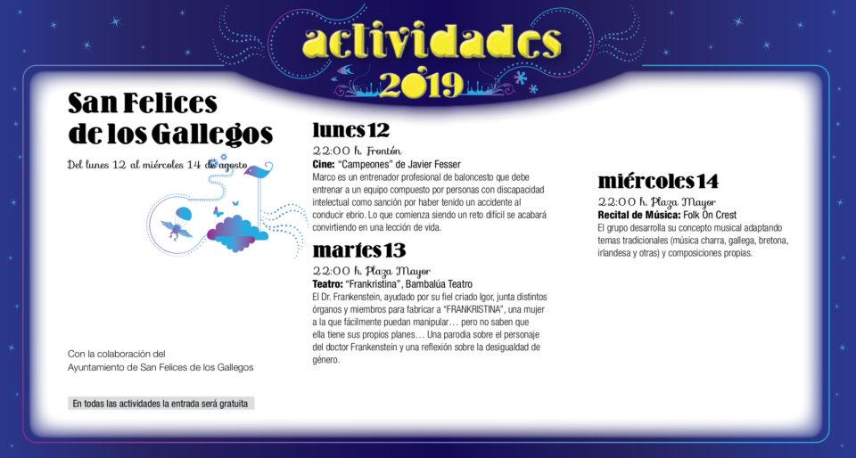San Felices de los Gallegos Noches de Cultura Agosto 2019