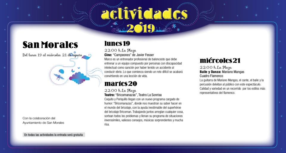 San Morales Noches de Cultura Agosto 2019