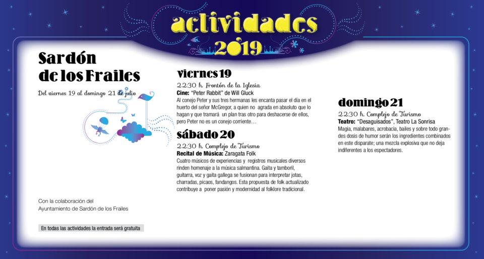 Sardón de los Frailes Noches de Cultura Agosto 2019