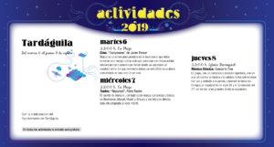 Tardáguila Noches de Cultura Agosto 2019
