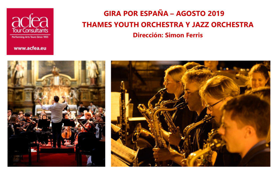 Casino de Salamanca Thames Youth Orchestra y Thames Jazz Orchestra Agosto 2019