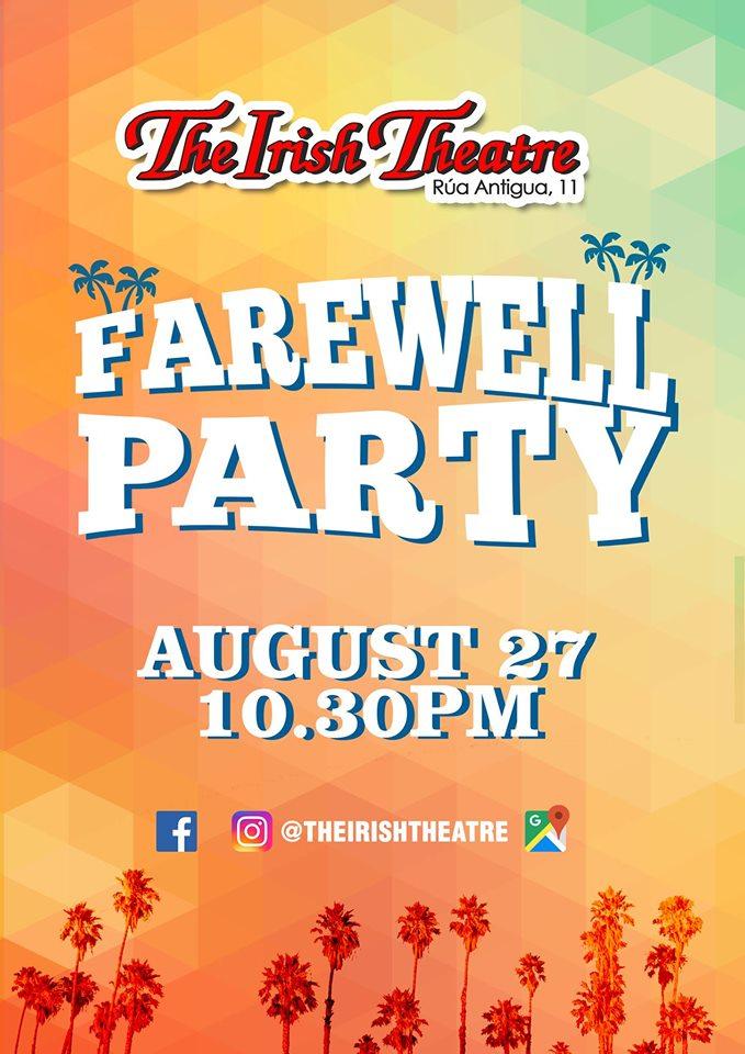 The Irish Theatre Farewell Party Salamanca Agosto 2019