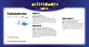 Valsalabroso Noches de Cultura Agosto 2019
