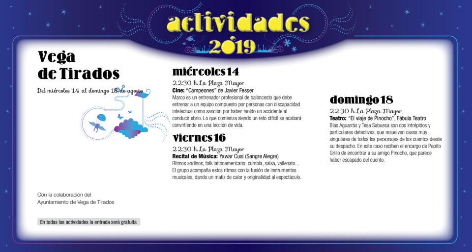 Vega de Tirados Noches de Cultura Agosto 2019