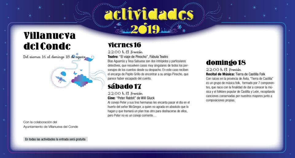 Villanueva del Conde Noches de Cultura Agosto 2019