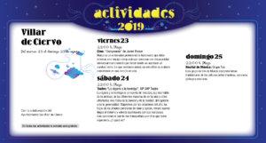 Villar de Ciervo Noches de Cultura Agosto 2019