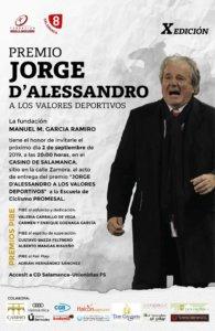 Casino de Salamanca X Premio Jorge D'Alessandro a los Valores Deportivos Salamanca Septiembre 2019
