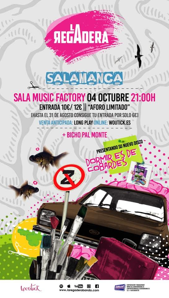 Music Factory La Regadera + Bicho Pal Monte Salamanca Octubre 2019