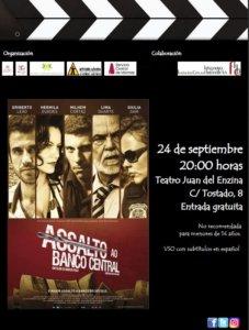 Aula Teatro Juan del Enzina Assalto ao Banco Central Salamanca Septiembre 2019