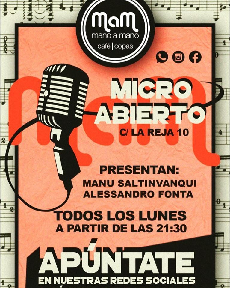 Bar Mano a Mano Micro Abierto Salamanca 2019-2020