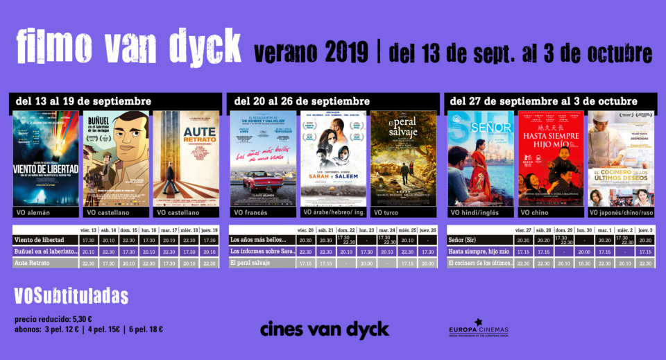 Cines Van Dyck Joven Filmo Van Dyck VOS Agosto septiembre Salamanca