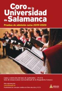 El Coro de la Universidad de Salamanca busca nuevas voces para el curso 2019-2020