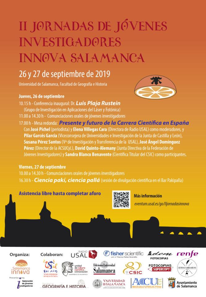 Facultad de Geografía e Historia II Jornadas de Jóvenes Investigadores Salamanca 2019