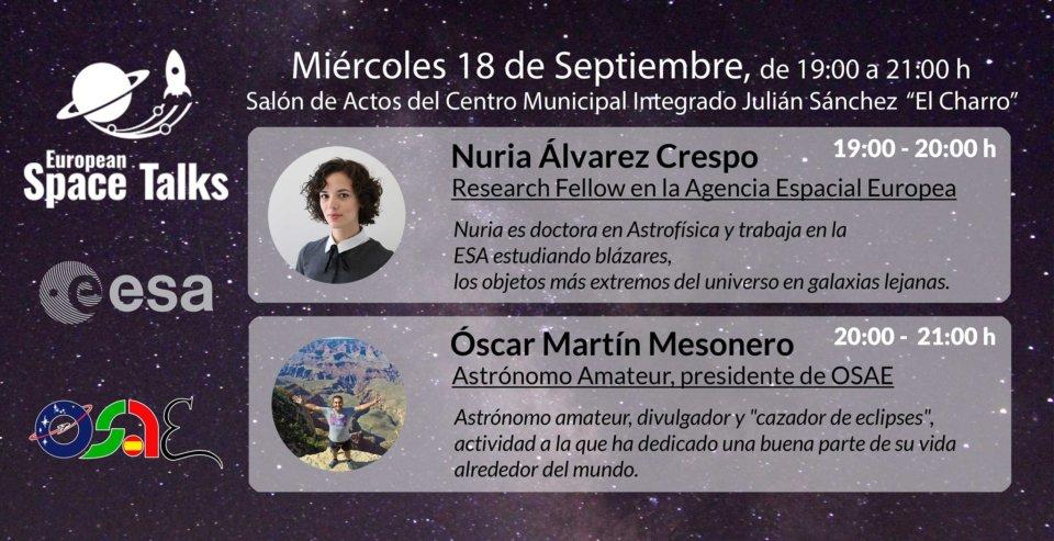 Julián Sánchez El Charro OSAE Eusopean Space Talks Salamanca Septiembre 2019