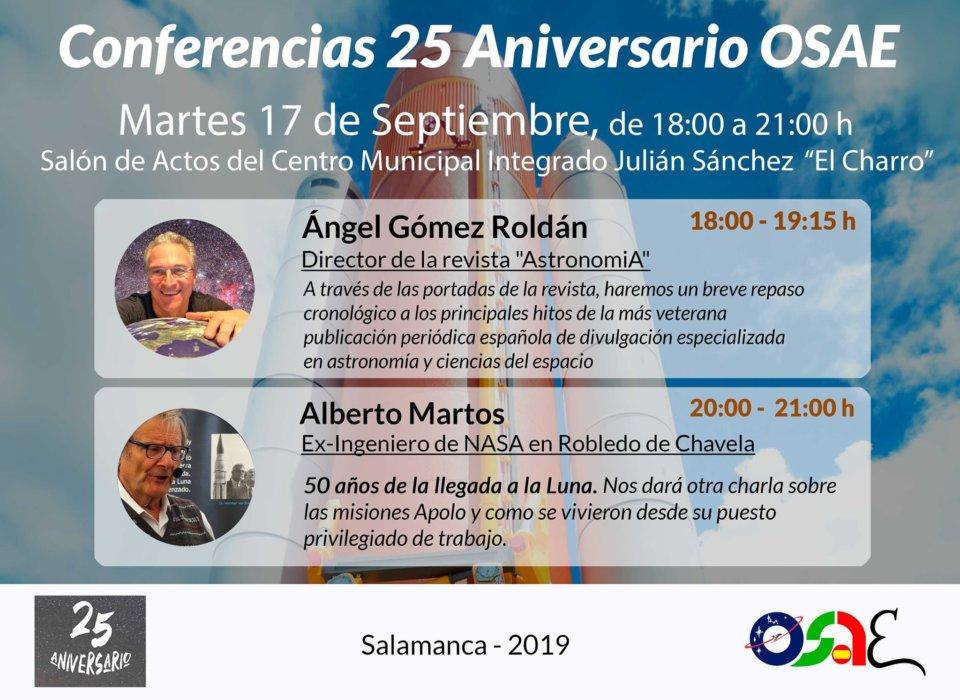 Julián Sánchez El Charro OSAE XXV Aniversario Salamanca Septiembre 2019
