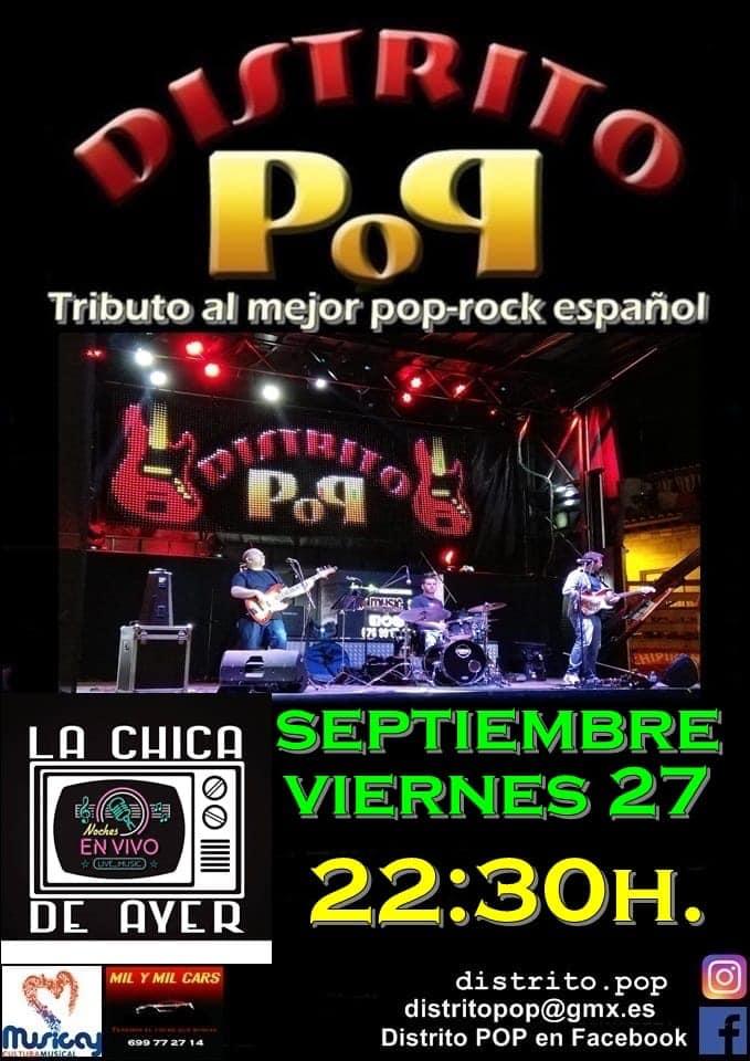La Chica de Ayer Distrito Pop Salamanca Septiembre 2019