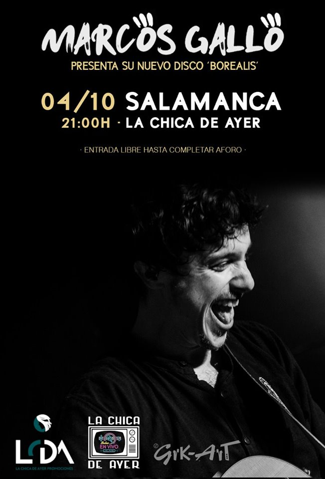 La Chica de Ayer Marcos Gallo Salamanca Octubre 2019