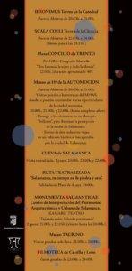 La noche del Patrimonio Salamanca Septiembre 2019