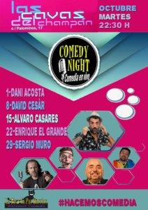 Las Cavas del Champán Comedy Night Salamanca Octubre 2019